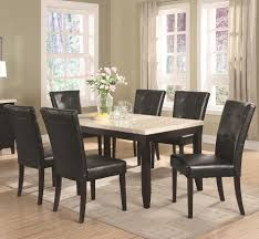 7 piece dining room set coaster anisa 7 piece dining table and chairs set del sol