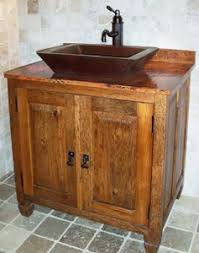 copper bathroom vanities and copper sinks for a rustic old