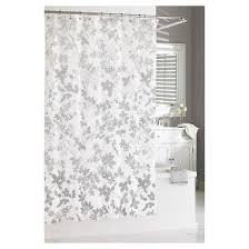 Black Grey And White Shower Curtain Floral Ombré Shower Curtain Gray 72