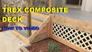 Composite Wood How To Install A Composite And Cedar Wood Deck Skirting Custom