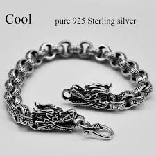 dragon bracelet silver images V ya s925 thai silver dragon head link bracelets for cool men jpg