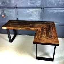 reclaimed wood l shaped desk wooden l shaped desk reclaimed wood l shaped desk best of barn wood