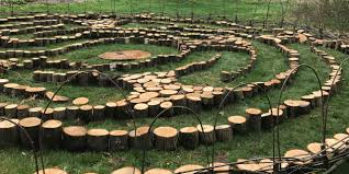 new labyrinth in the botanic gardens invites the wellesley