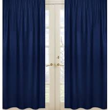 Blue Ticking Curtains Blue Ticking Stripe Curtains Wayfair