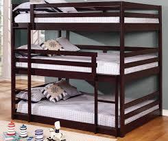 Wyatt Full Size Triple Bunk Bed - Full sized bunk beds
