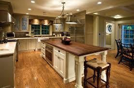 Rustic Kitchen Countertops - traditional rustic kitchen design wooden floor ceramic backsplash