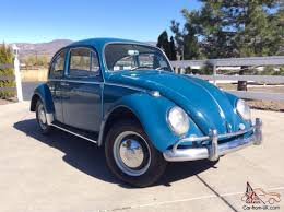 volkswagen beetle blue 1966 volkswagen vw bug beetle sea blue sedan new interior barn find
