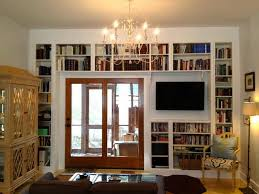 awesome white wooden library bookshelves with white wall bookshelf
