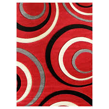 Red Black White Area Rugs Add A Touch Of Bold To Your Living Quarters With This Studio 605
