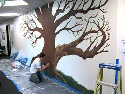 wall ideas if you go down to the woods today make do and diy tree mural wallpaper uk monkey and owl nursery tree wall mural stickers tree wall mural decals local splash family tree mural project youtube