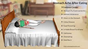abdominal pain or stomach ache after eating 9 common causes