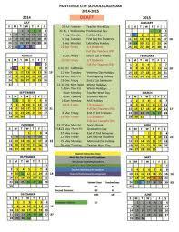 fall is back huntsville s 2014 2015 school calendar unveiled