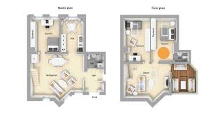 Two Level Floor Plans Two Level Loft Apartment With Brick Wall Interior In Sweden