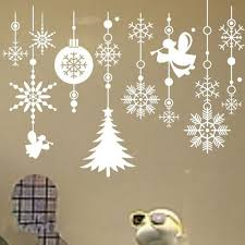Christmas Window Cling Decorations by Best 25 Christmas Window Stickers Ideas On Pinterest Make