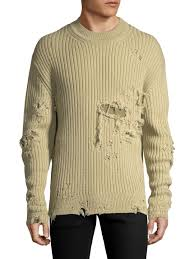 yeezy sweater ribbed distressed sweater by yeezy light gilt