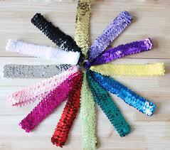 sequin headbands aliexpress buy 3x36cm sequin headbands sequin bow headband