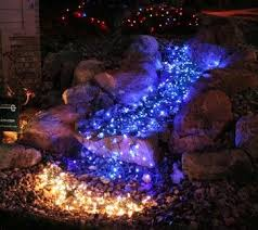 christmas lights to create lit pond effect led outdoor outdoor