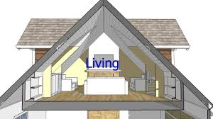 design an attic roof home with dormers using sketchup quick