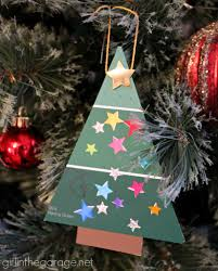 Easy Christmas Tree Decorations Easy Paint Chip Christmas Tree Ornament In The Garage