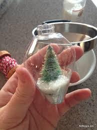diy mini snow globe ornament