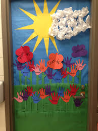 Spring Decoration by Spring Door Decoration I Made Crafts For Kids Pinterest