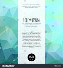 Invitation Blank Card Stock Vector Spectrum Polygonal Abstract Background Business Stock