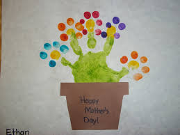 Best Homemade Mothers Day Gifts by Muffins With Mom Craft Finger And Finger Print