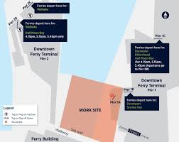 downtown ferry terminal seawall repair