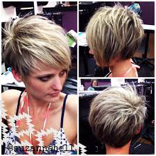 a chic model of short hairstyles for thin hair over 60 asymmetrical pixie hair inspiration pinterest asymmetrical