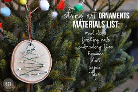 handmade christmas ornaments string art ornaments