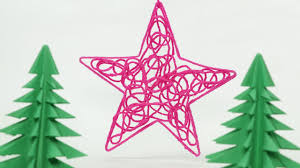 diy christmas star ornament craft with thread homemade christmas