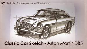 100 years of aston martin 1963 db5 sketch youtube
