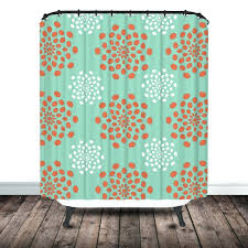 Turquoise And Grey Shower Curtain Extra Long Shower Curtain Turquoise Bathroom Decorating Black And