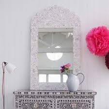 ls plus round mirror adriana white bone inlay mirror mirrors graham and green