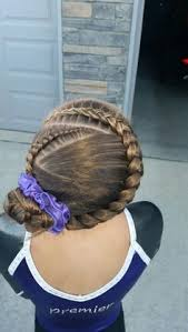 gymnastics picture hair style gymnastics hair braids pinteres
