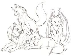 Wolf Pack Coloring Pages Wolf Pack Coloring Pages