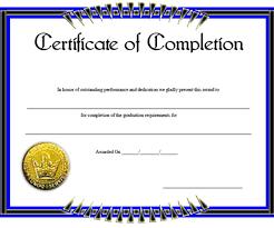 professional certificate template of completion design idea