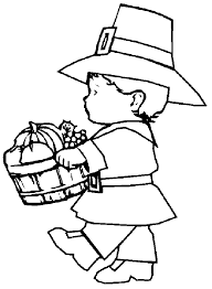 thanksgiving pilgrim harvest coloring pages printables 2 clip