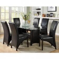 7 piece glass dining room set foter