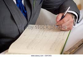 register wedding signing register church wedding stock photos