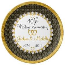 40th anniversary plate personalized names dates 40th anniversary plate anniversaries