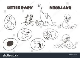 baby dinosaur egg stages egg stock vector 517855801