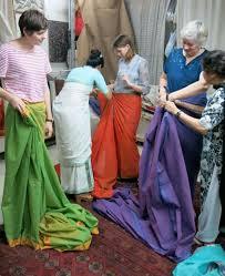 Drape A Sari How I Learned To Wear A Sari And Enjoy It Bbc News