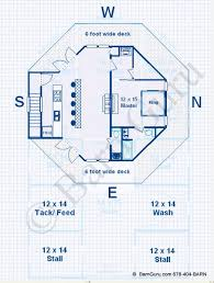 Garage Floor Plans With Living Quarters Barn Plans 4 Stall Horse Barn Living Quarters Design Floor Plan