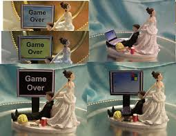 gamer wedding cake topper wedding cake topper computer laptop gamer gaming