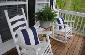 exterior incredible front porch decoration using blue stripe