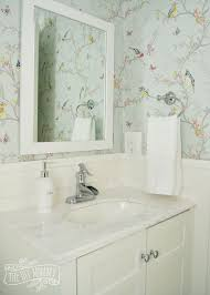 tapete fã r badezimmer die besten 25 powder rooms with chinoiserie inspired wallpaper