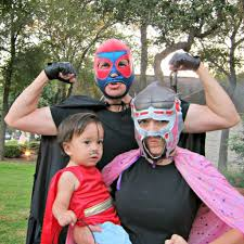 family superhero halloween costumes diy nacho libre and luchador couple halloween costumes morena u0027s