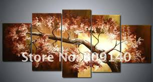 home decoration painting wall decoration paintings hand painted unframed abstract 5 panel