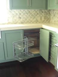 Kitchen Cabinet Corner Decor Corner Kitchen Cabinet Solutions And Rev A Shelf Blind Corner
